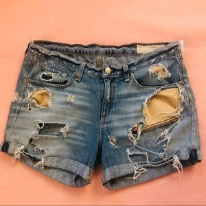 Rag & Bone Rebel Distressed Boyfriend Short